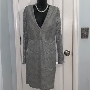 Night out large laced long sleeved dress